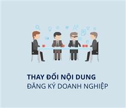 Thay đổi nội dung đăng ký doanh nghiệp